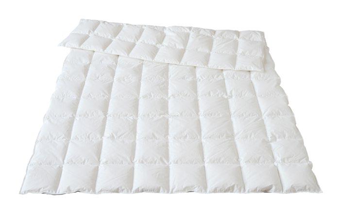 Oberbett, Bettdecke mit Daunen